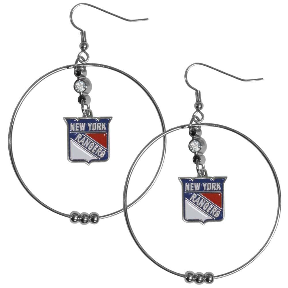 New York Rangers 2 Inch Hoop Earrings (F)