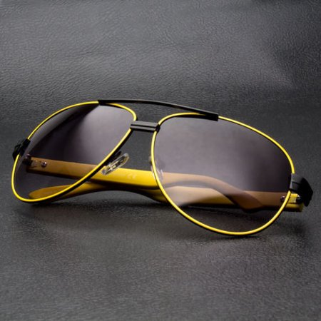 Classic Retro Vintage Men Fashion Aviator Sunglasses Racing Sports Glasses (Raving Glasses)