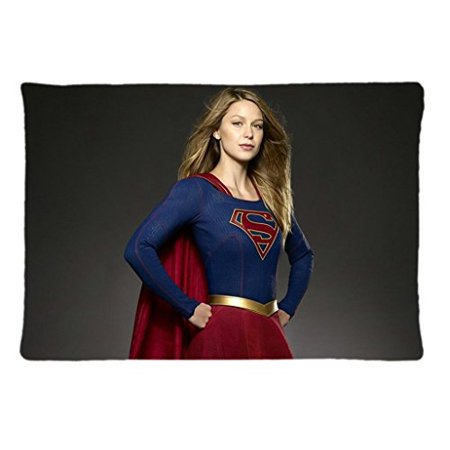 Deyou Melissa Benoist Upergirl Tv Series Justice Pillowcase Pillow Case Cover Two Sides Printing Size 20X30 Inch