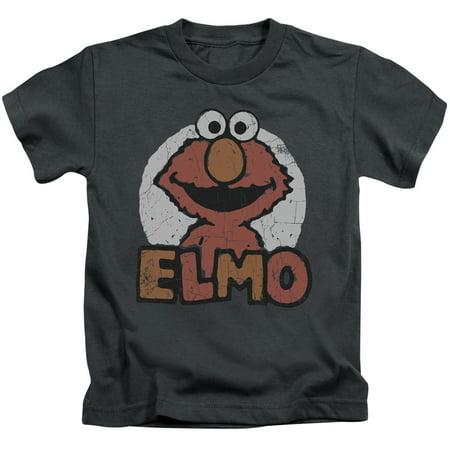 sesame street classic tv show elmo distressed little boys juv t-shirt tee](Elmo Bow)