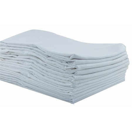 Toddler Cot Sheets in White - Set of 12 (40 in. L x 23 in. W)