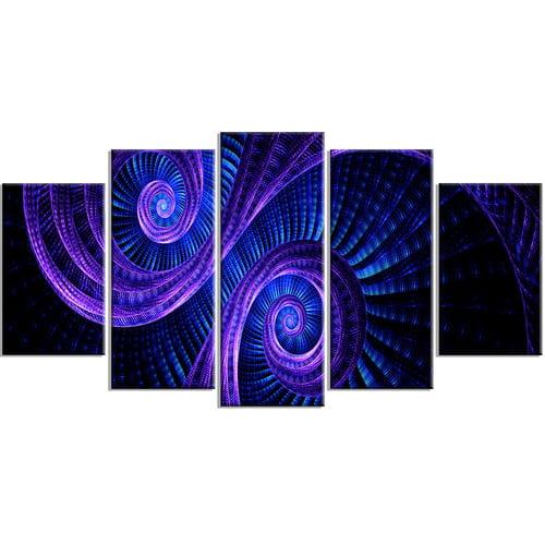 Design Art Royal Purple And Blue Dream 5 Pieces 60 X 32 Walmart Com Walmart Com
