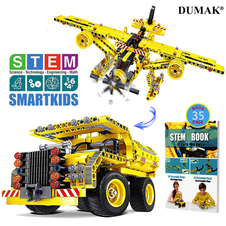 Building Toys Gifts for Boys & Girls Age 6yr-12yr, Construction Engineering Kits for 7, 8, 9, 10 Year Old, Educational STEM Learning Sets for Kids (Gift For 9 Years Old Girl)