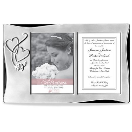 Timeless Frames Silver Heart Tabletop Wedding Collage Picture Frame ...