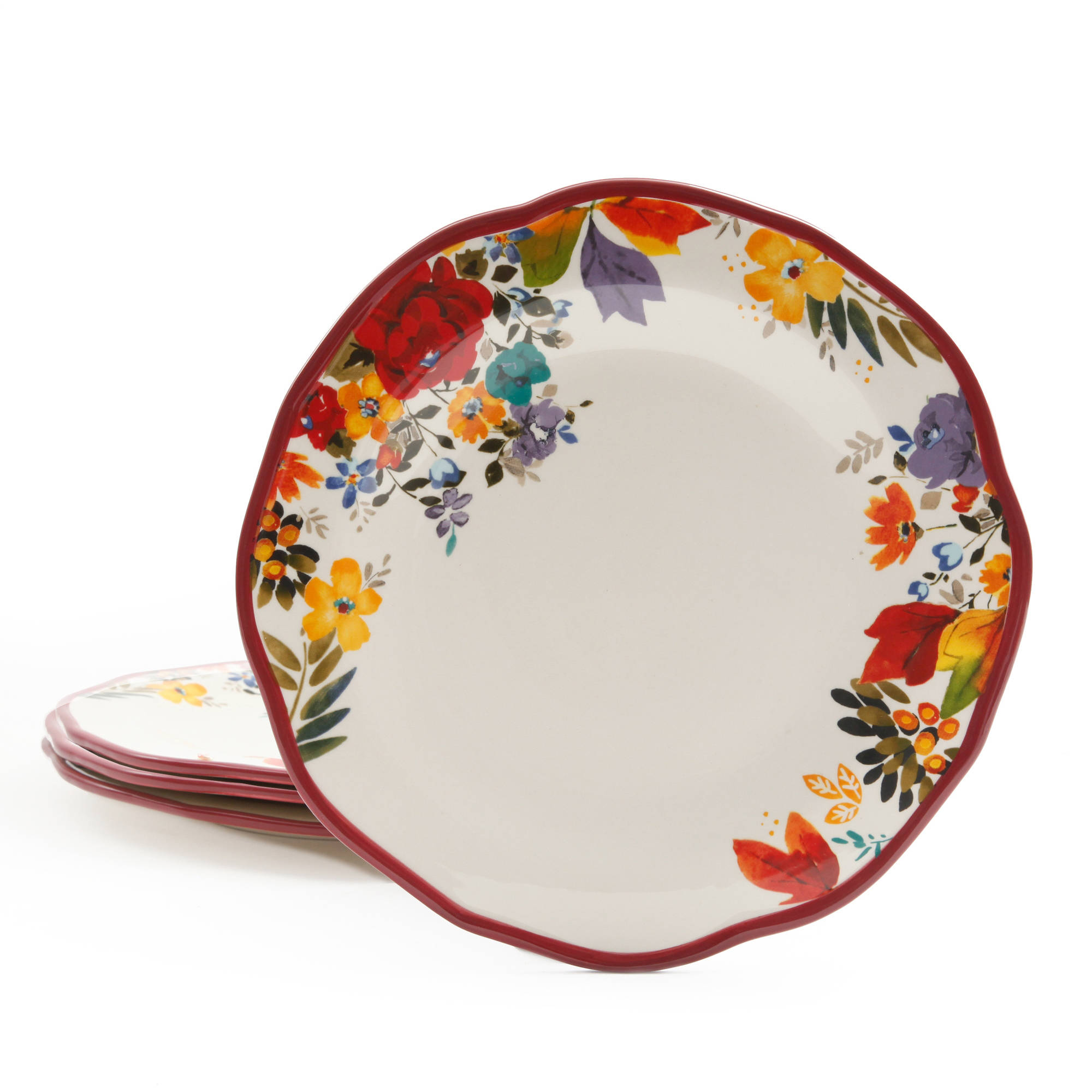 sc 1 st  Walmart & The Pioneer Woman Timeless Floral Dinner Plate Set 4-Pack - Walmart.com