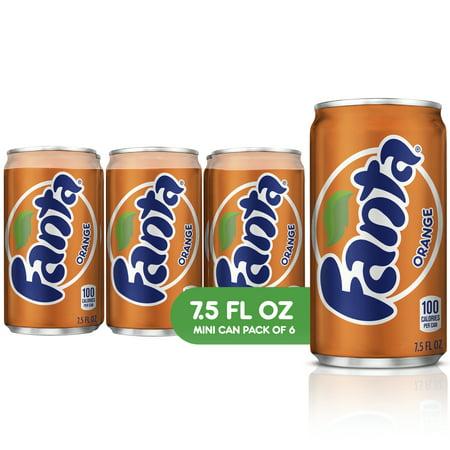 (4 pack) Fanta Mini Can Soda, Orange, 7.5 Fl Oz, 6 - Orange Soda Recipe