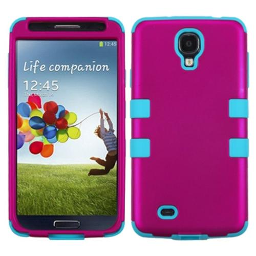 Insten Titanium Hot Pink/Tropical Teal TUFF Hybrid Rugged Hard Shockproof Case For SAMSUNG Galaxy S4 i9500