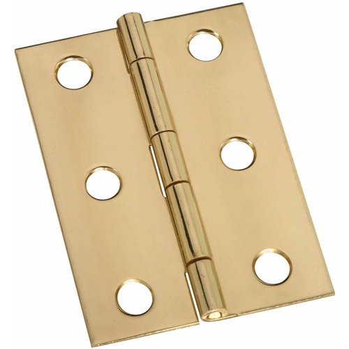 "Stanley Hardware 803250 2-Count 2-1/2"" Bright Brass Broad Hinges"