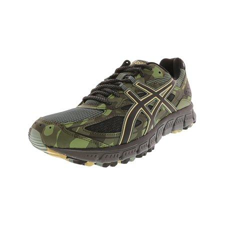 ASICS Gel Scram 3 Trail Running Shoe 12.5M Dark Forest Black Four Leaf Clover