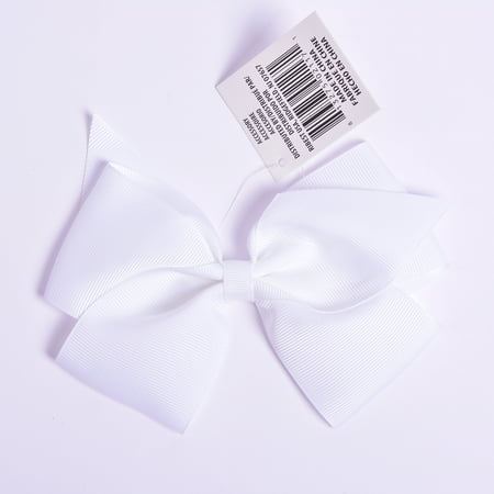 Yama Ribbon Large White Grosgrain Bow, 1 Each - Large Ribbon Bows
