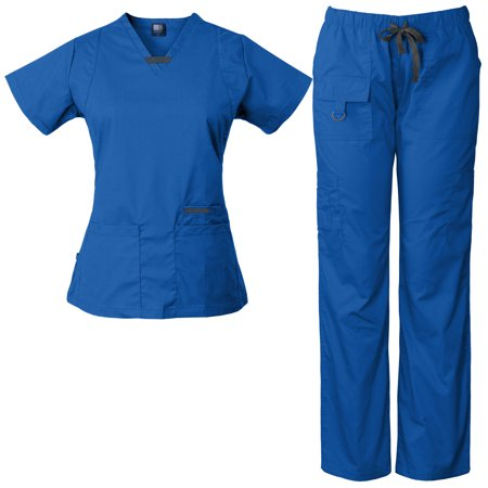 Women's Utility Multi-Pocket Medical Scrub Set, Style 2043 - Medical Scrubs Sets