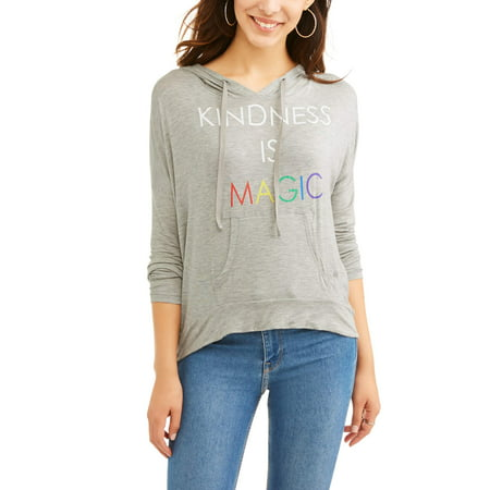 Graphic Pullover Hoodie - Women's Hi-Lo Pullover Pride Graphic Hoodie