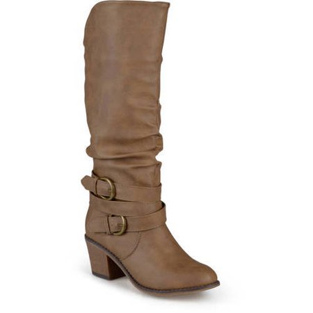 Women's Slouch Buckle High Heel Boots](High Heel Boots For Kids)