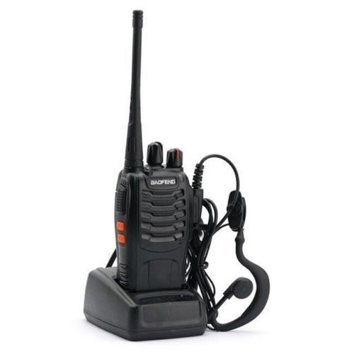 Click here to buy BF-888S Walkie Talkie UHF 400-470MHZ 2-Way Radio 16CH 5W Long Range US Plug.