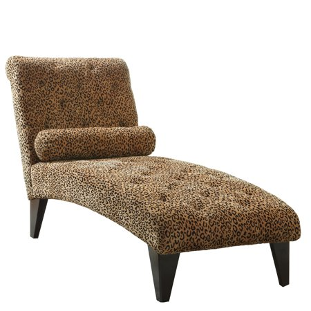 Coaster leopard print chaise lounge chair for Animal print chaise lounge
