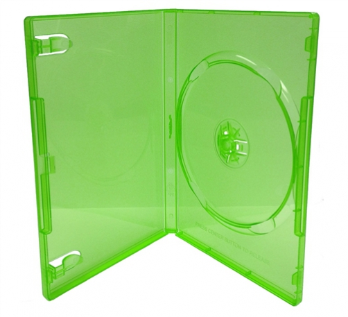CheckOutStore 500 STANDARD Clear Green Color Single DVD Cases