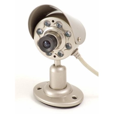 Q-See QSICC2 Indoor CMOS Camera w/Night Vision & Audio (Color), 380 TV Lines Resolution By (Resolution 380 Tv Lines)