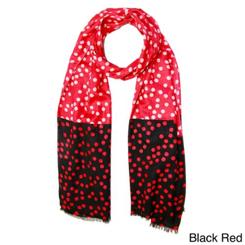 In Things Corp Handmade Saachi Women's Colorblock Polka Dots Scarf (India)