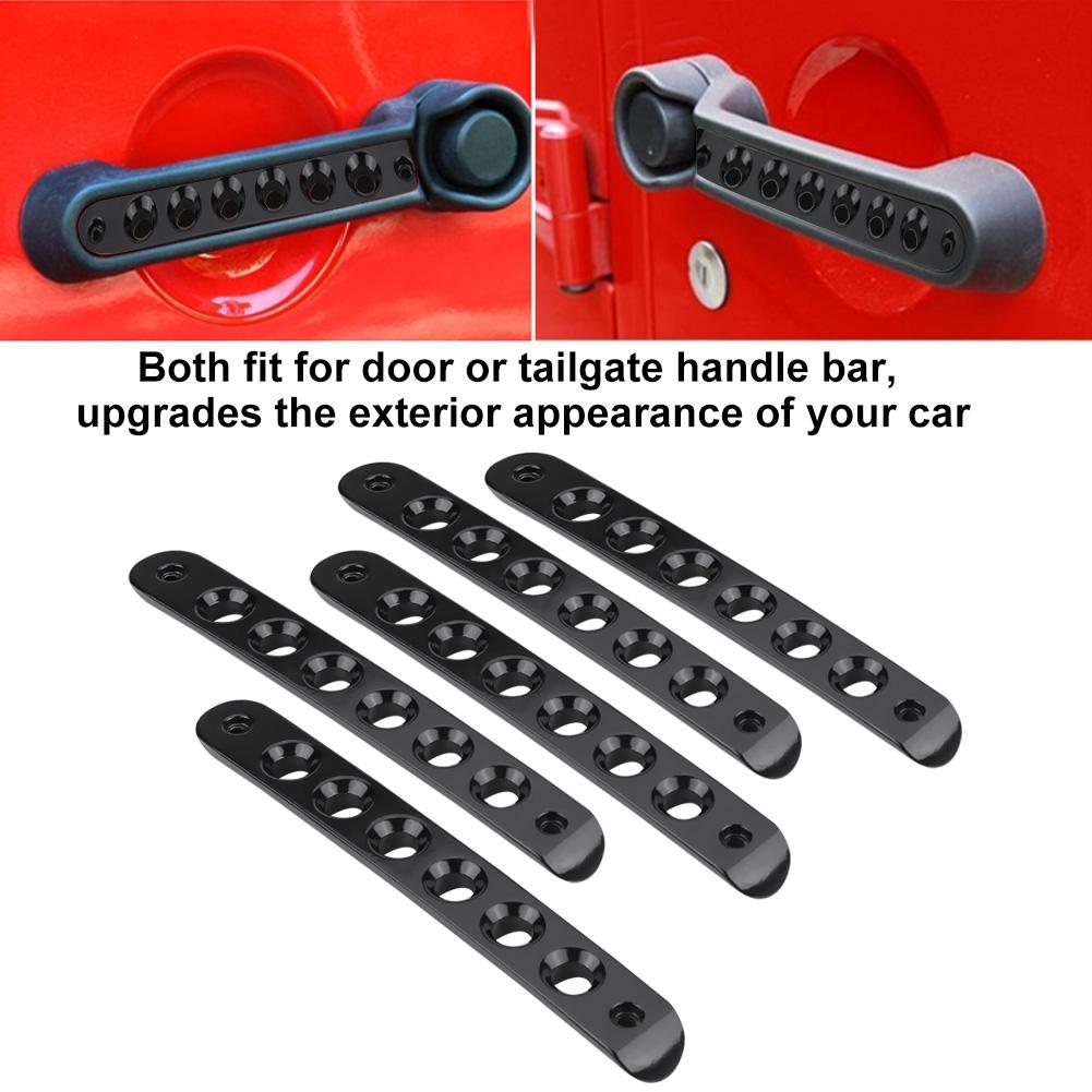 Jeep Wrangler JK 5x White 4 Door Grab Handle Tailgate Bar Cover Trim Insert