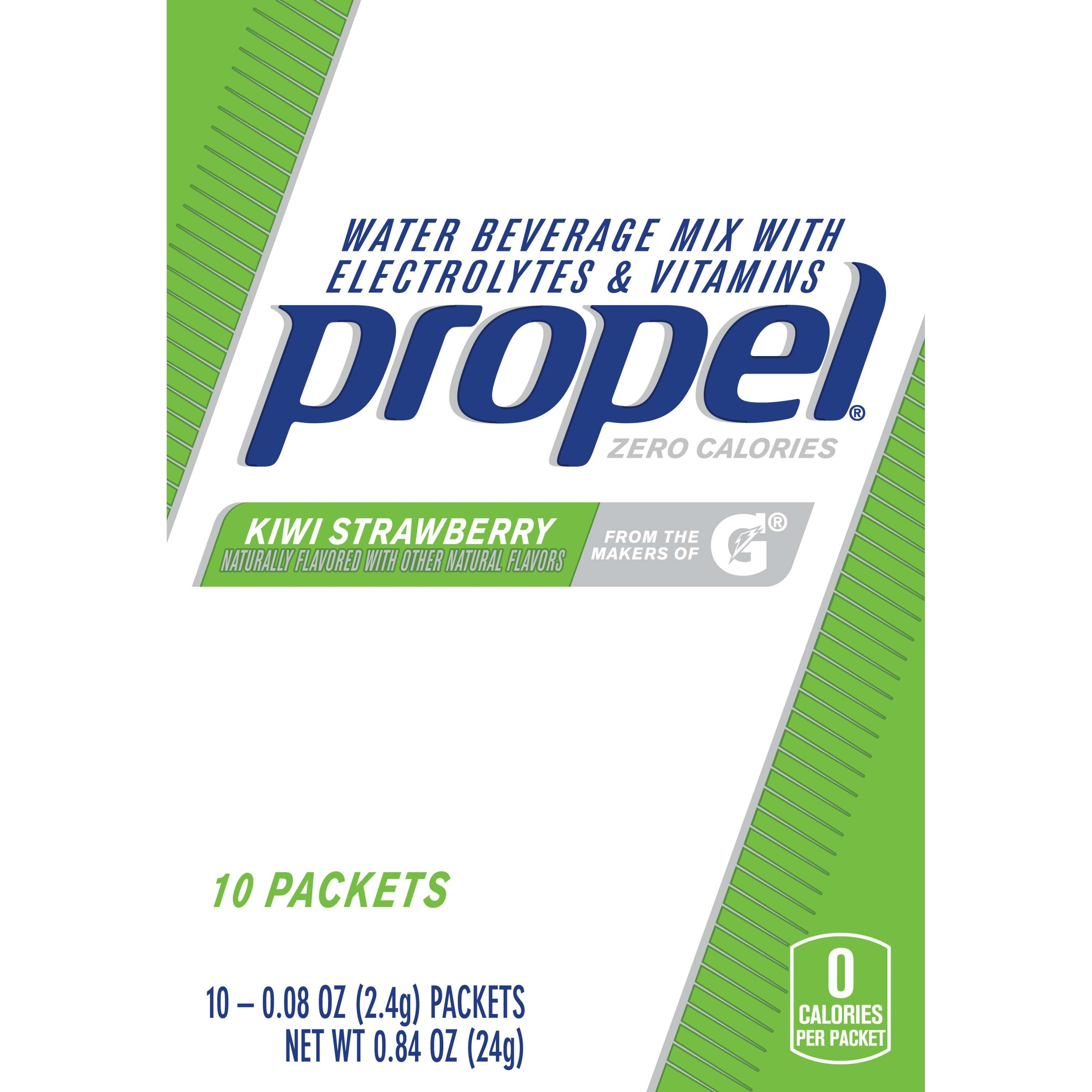 Propel Drink Mix, Kiwi Strawberry, .08 Oz, 10 Packets, 1 Count
