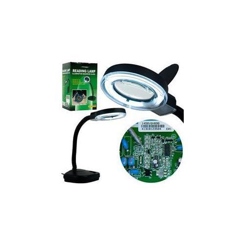 Trademark Poker Flourescent Gooseneck Magnifier Light with 5 power lens