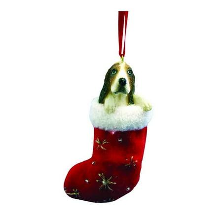 E&S Pets Basset Hound Stocking Ornament (Set of (Stocking Ornament Set)