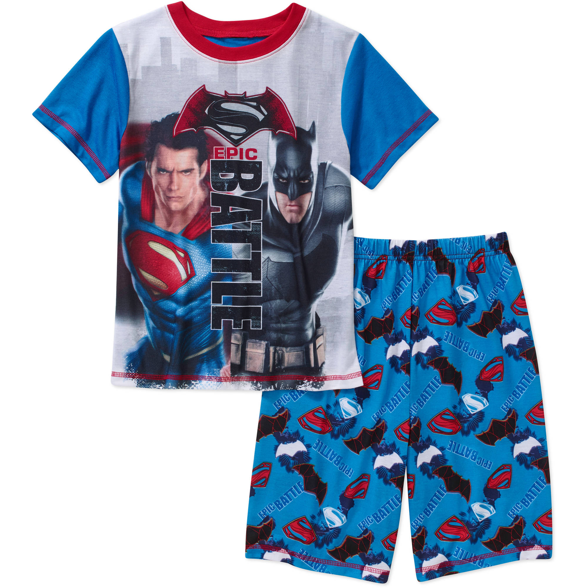 DC Comics Batman V Superman Boys Licensed 2 Piece Sleep Short Set