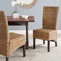 Safavieh Kiska Nautical Bohemian Rattan Side Chair, Set of 2