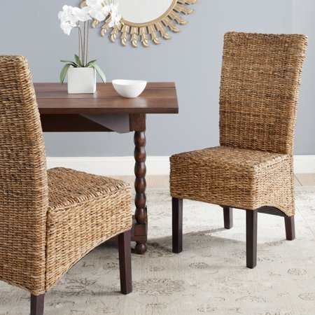 Safavieh Kiska Nautical Bohemian Rattan Side Chair, Set of 2 ()