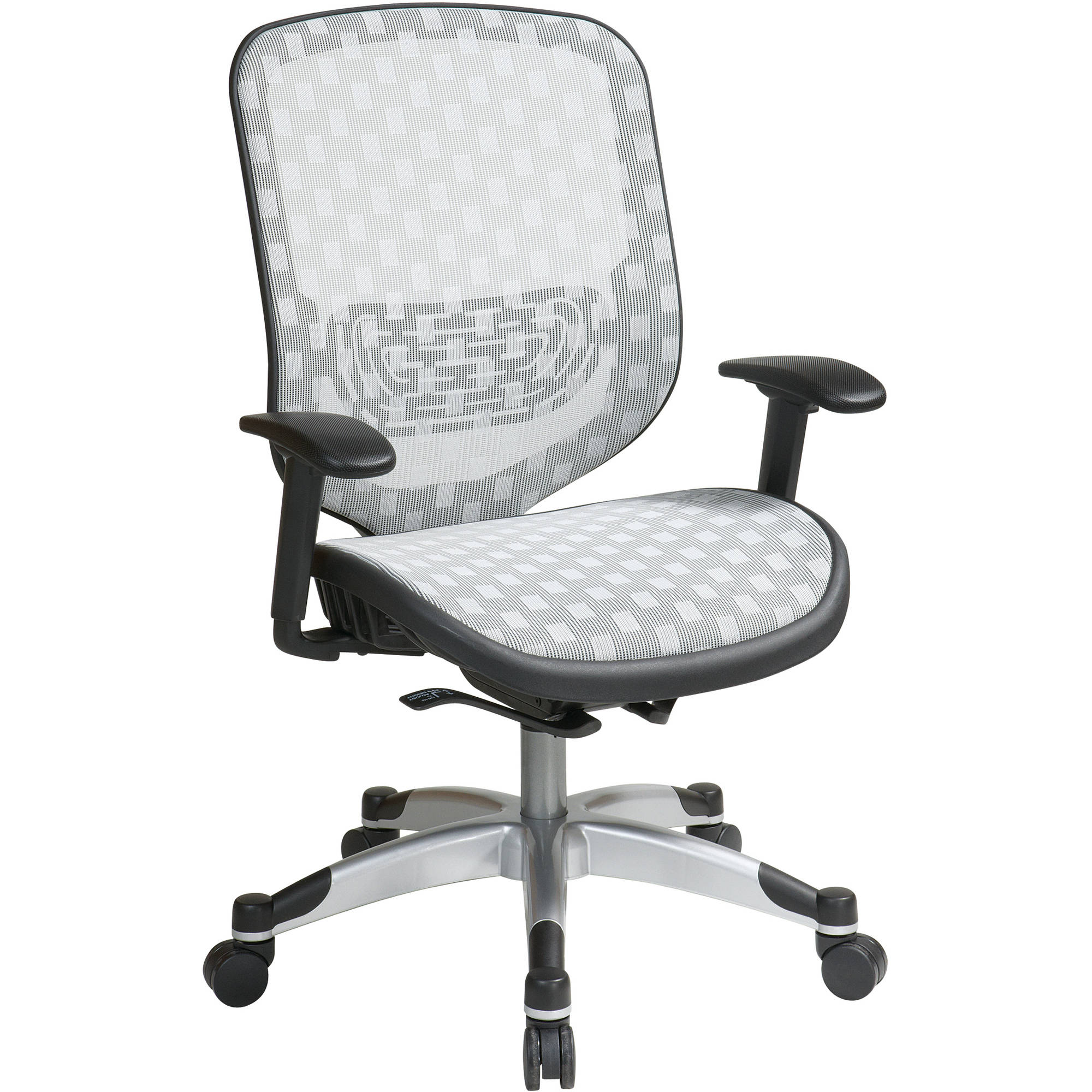 Space Seating White DuraFlex with Flow Through Technology Seat and Back Chair, White