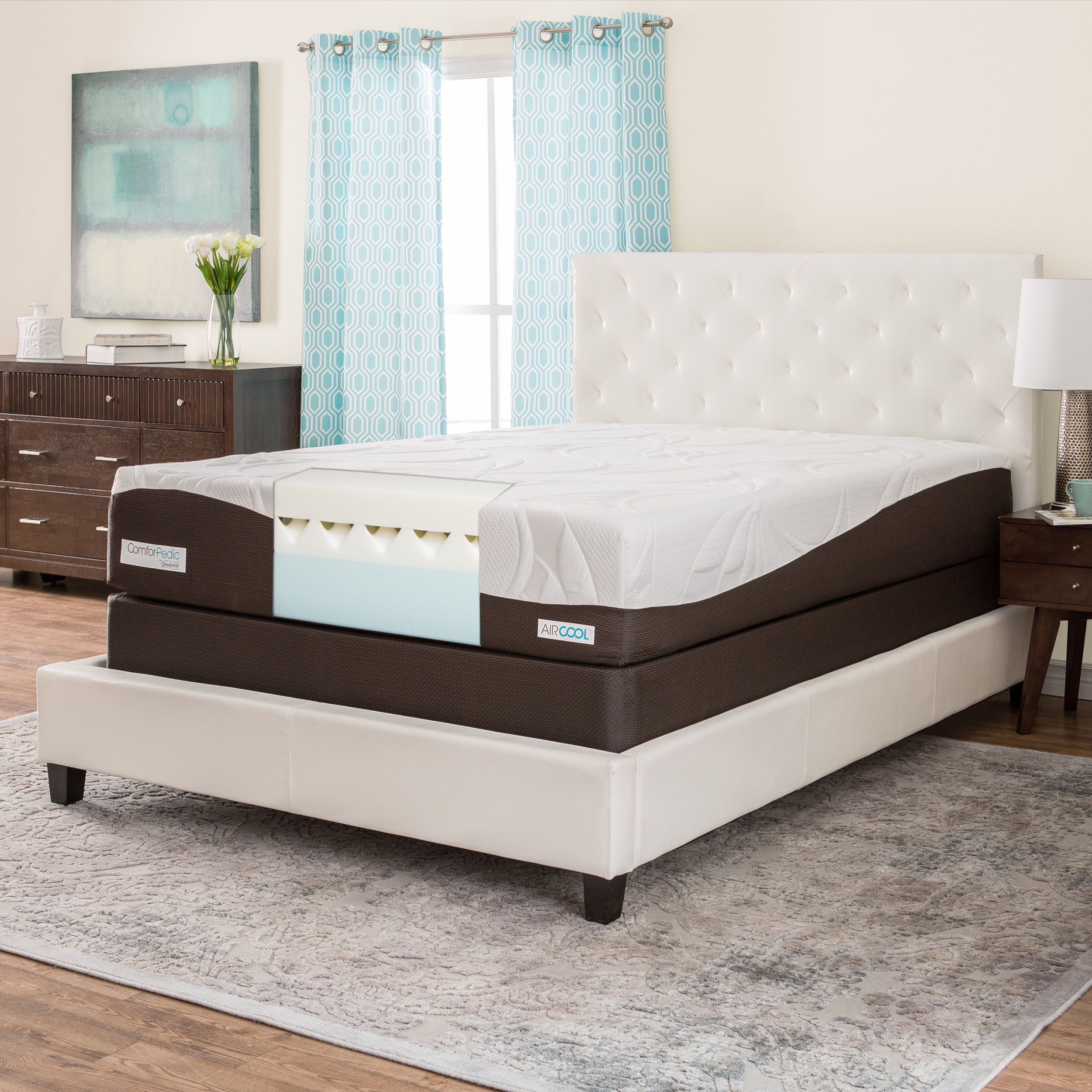 Simmons Beautyrest ComforPedic from Beautyrest 12-inch Full-size Memory Foam Mattress Set by Overstock