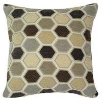 "Better Homes & Gardens Grey Hexagon Decorative Throw Pillow, 18"" x 18"", Grey"
