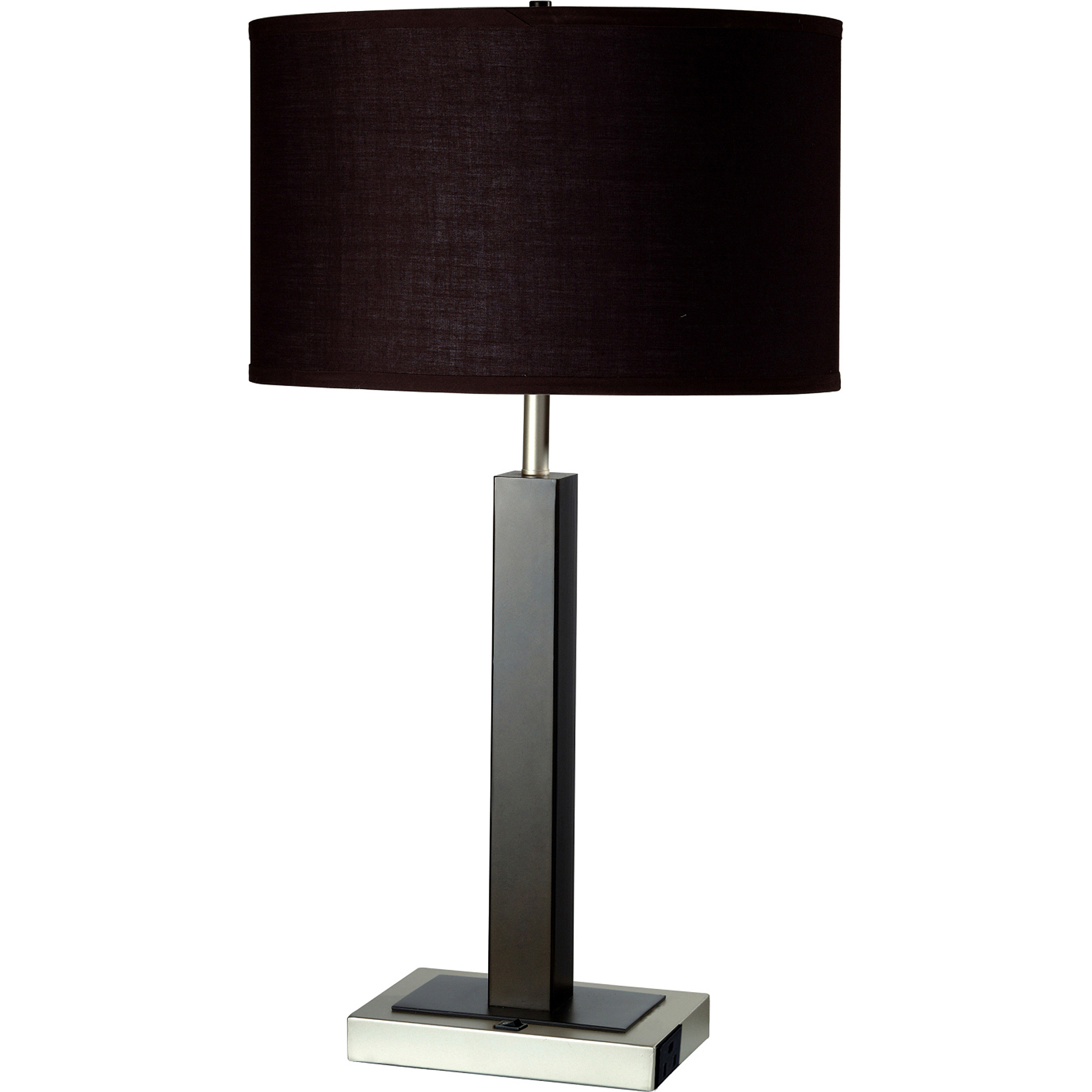 Delightful Metal Table Lamp With Convenient Outlet