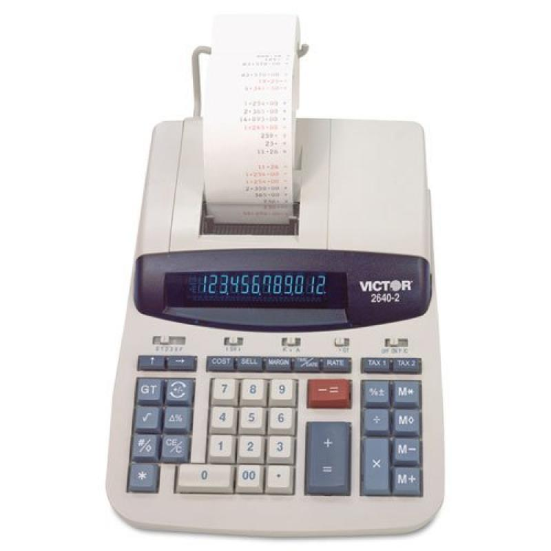 Victor - 2640-2 Two-Color Printing Calculator, Black/Red Print, 4.6 Lines/Sec 2640-2 (DMi EA