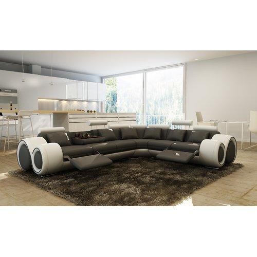 Hokku Designs Hematite Reclining Sectional by