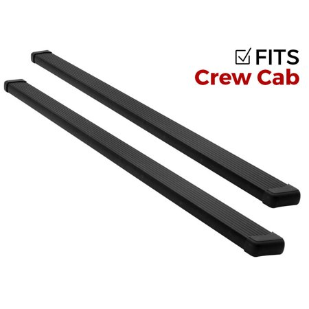 - Ionic Billet Black Running Boards 15-18 Chevy Colorado GMC Canyon Crew Cab