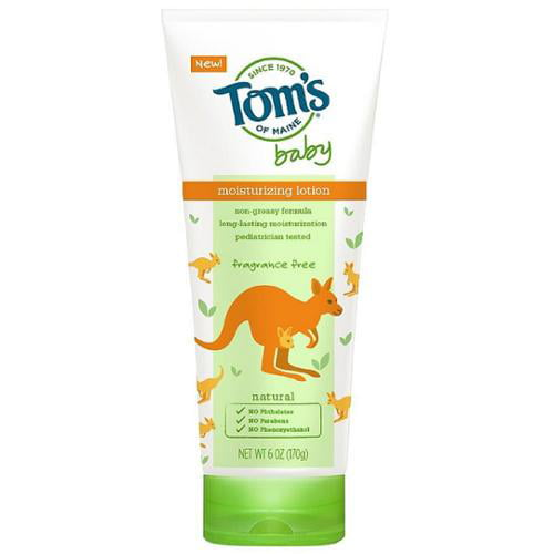Tom's of Maine Baby Moisturizing Lotion, Fragrance Free 6 oz (Pack of 6) by Tom%27s of Maine