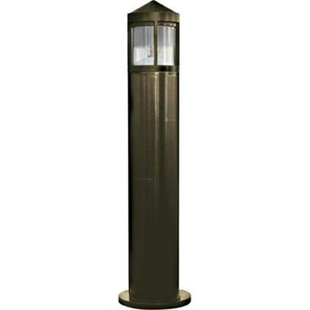 Dabmar Lighting D122-35-BZ 35W 120V Fiberglass Bollard with High Pressure Sodium Lamp, Bronze - 41.88 x 10.25 x 10.25 in. - image 1 of 1