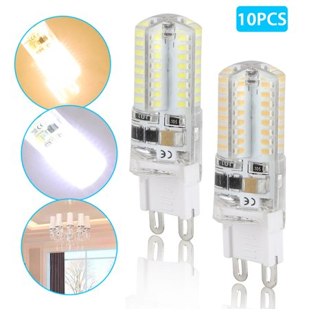 G9 LED Dimmable Light, Daylight 3 Watts Replacement for 30 Watts Halogen G9 Bulb, Daylight 6500K, Warm White 3200K, 360 Degree LED G9 Corn Crystal Light for Livingroom Bedroom Lighting(Pack of 10) Watt Halogen Replacement Bulb