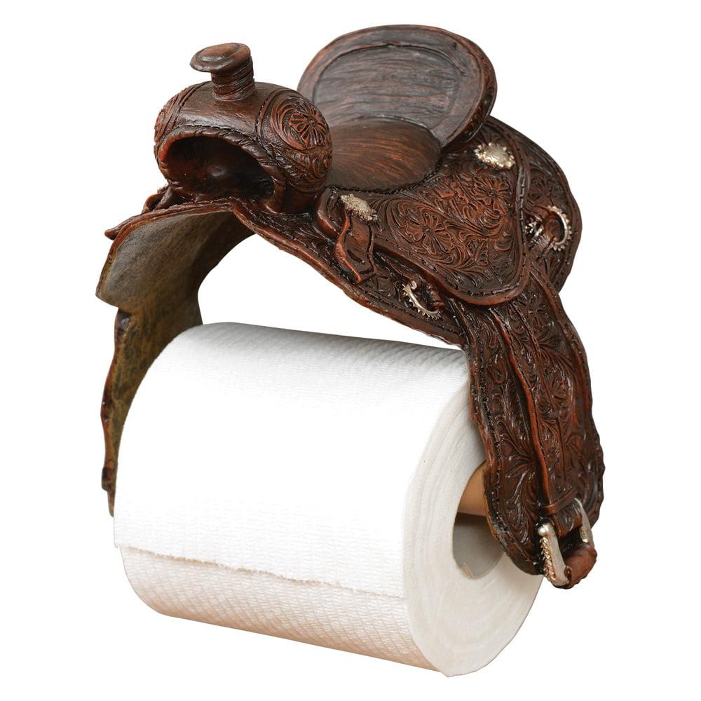 Saddle Toilet Paper Western Holder Rustic Bathroom Decor Walmart Com