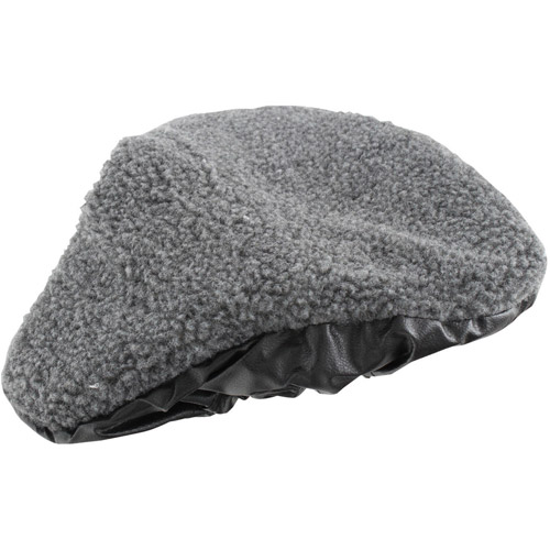 Ventura 2-Function Bicycle Saddle Cover, Reversible with Faux Fur and Leatherette