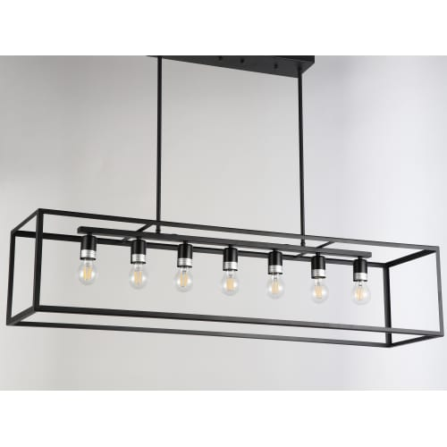 "JL Styles Inc JLS10506 Esporre 7 Light 47"" Wide Linear Chandelier by JL Styles Inc"