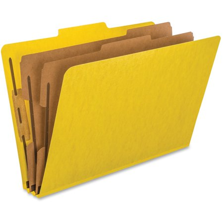 Pendaflex, PFX2257Y, Kraft Divider PressBoard Classification Folders, 10 / Box, Yellow
