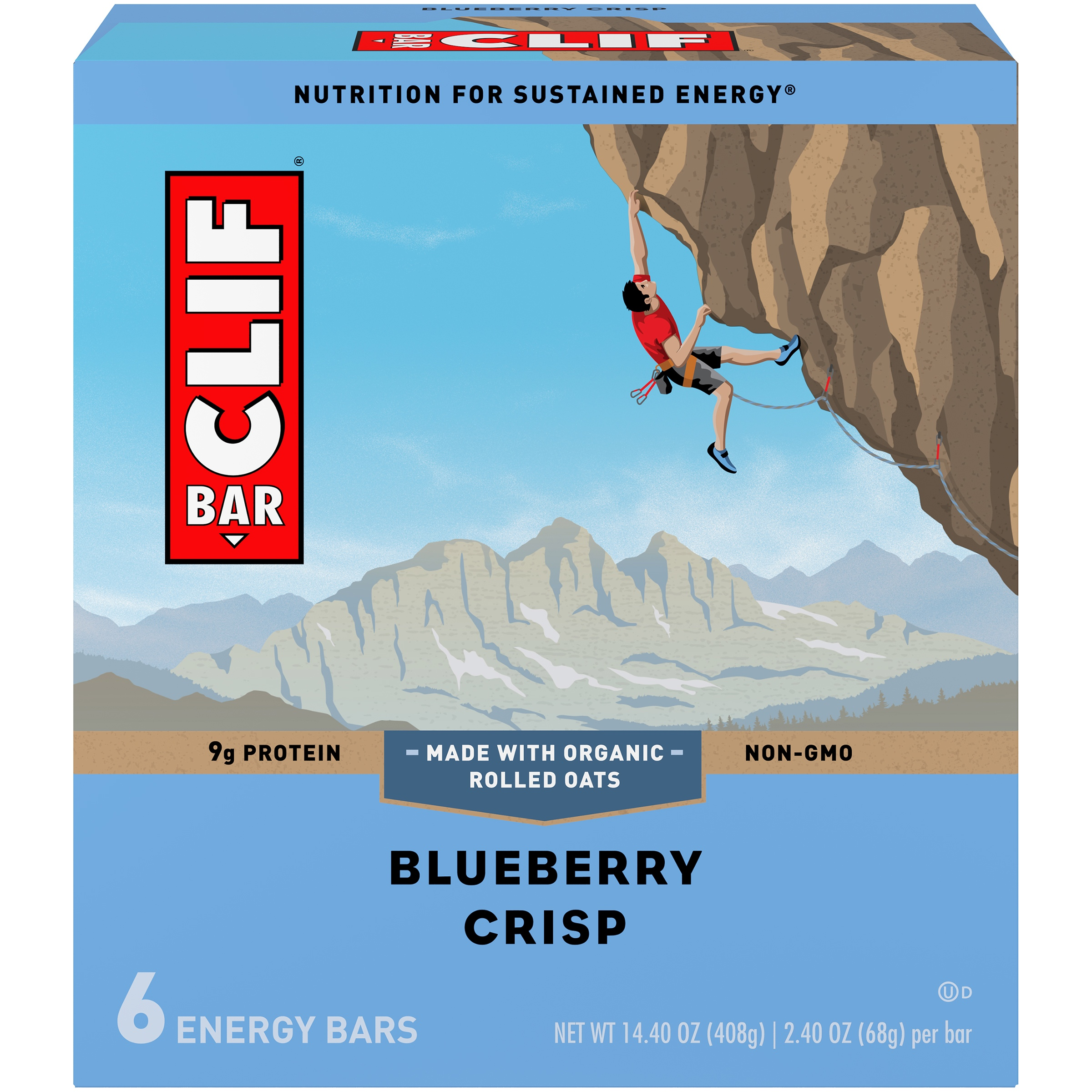 Clif Energy Bar, Blueberry Crsip, 9g Protein, 6 Ct