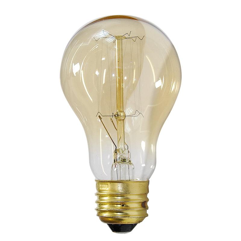 Antique 40W A19 Vintage Victorian Style 120v Incandescent Light Bulb