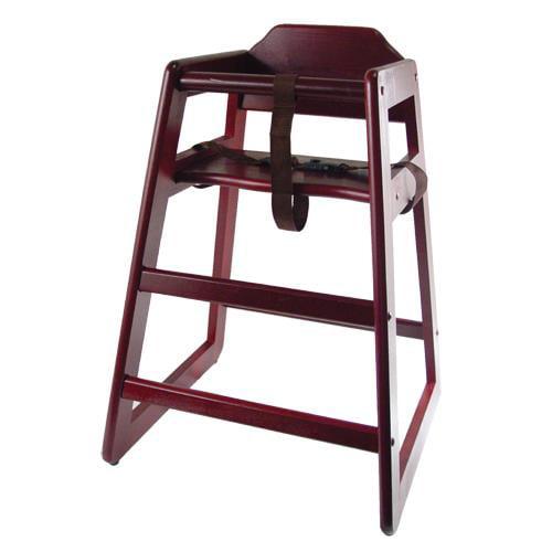 Winco - CHH-103 - Mahogany Finish Wood High Chair