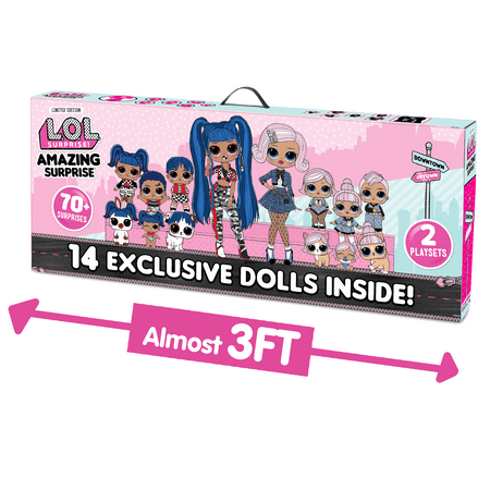 L.O.L. Surprise! Amazing Surprise with 14 Dolls (Includes 2 O.M.G. Fashion Dolls), 70+ Surprises & 2 Playset