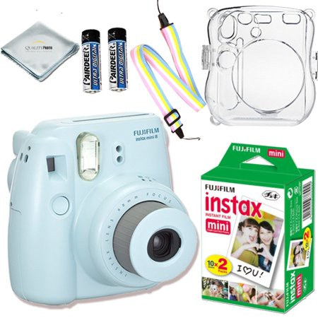 Fujifilm Instax Mini 8 Camera (Blue) + Fujifilm INSTAX Mini Instant Film (20 Exposures) + Accessories Kit for Fujifilm Instax Mini 8 Camera