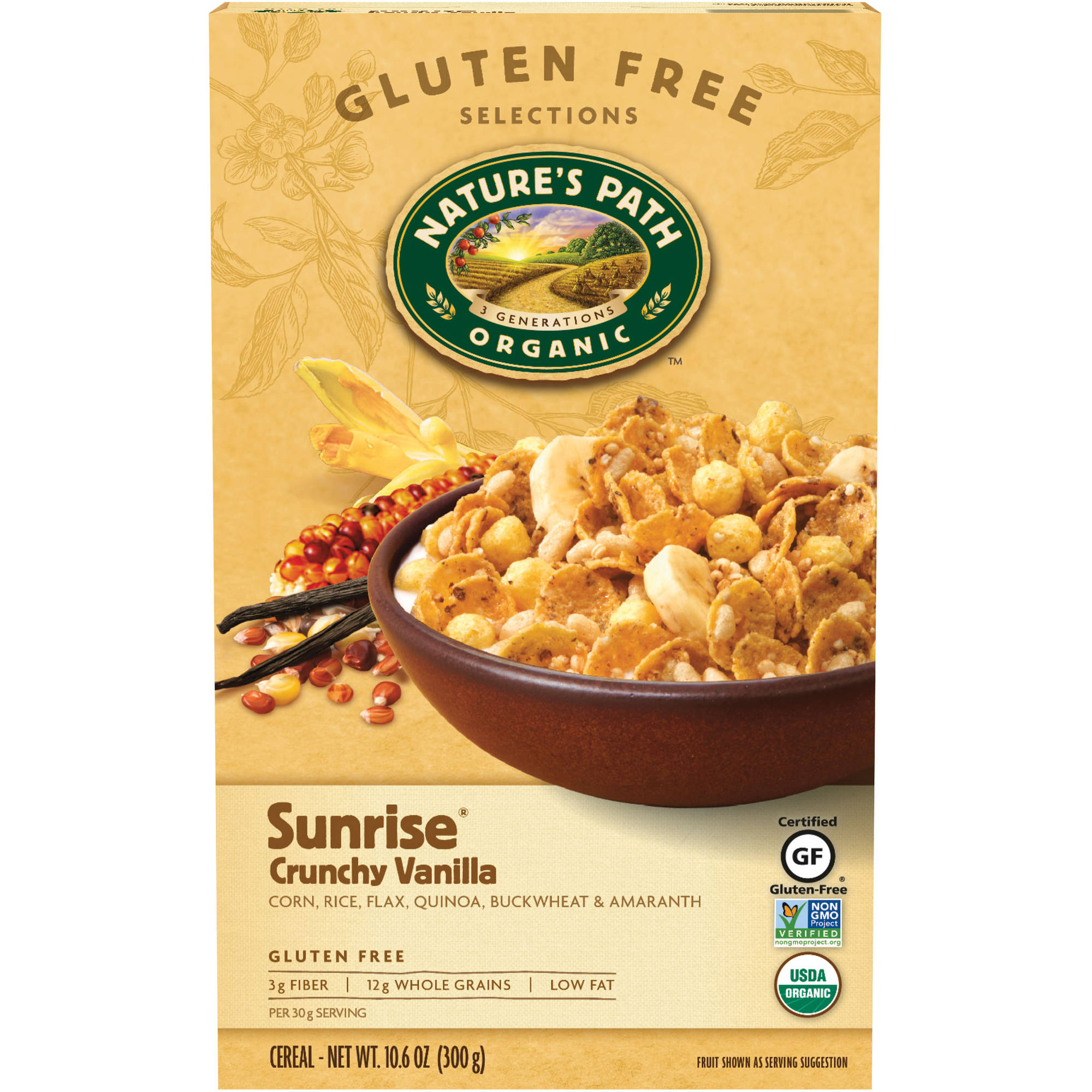 Nature's Path Organic Cereal, Sunrise Crunchy Vanilla, 10.6 Oz
