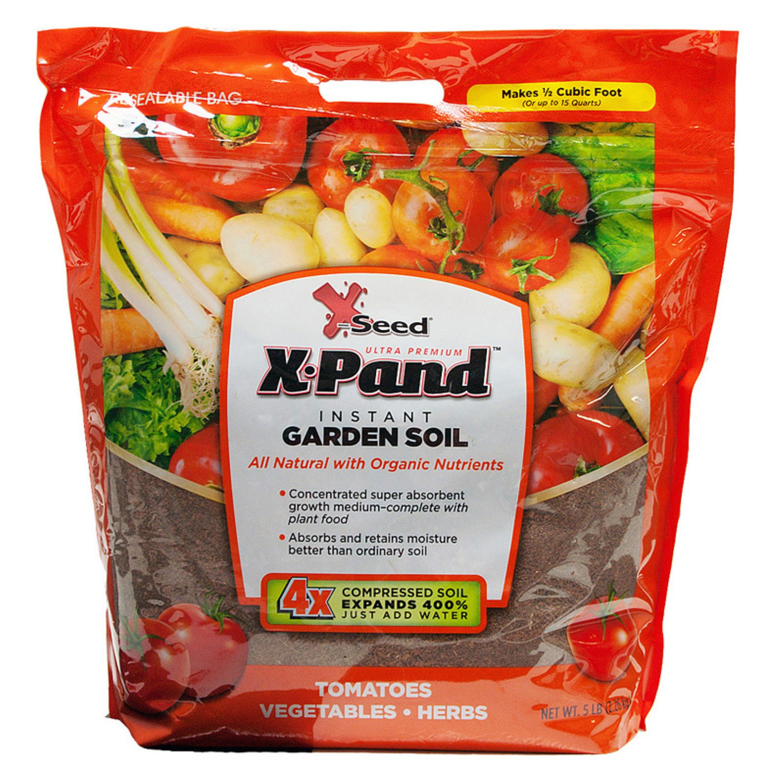 X-Seed 5 lbs. X-Pand Instant Garden Soil